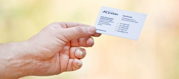 Alexion bus cards